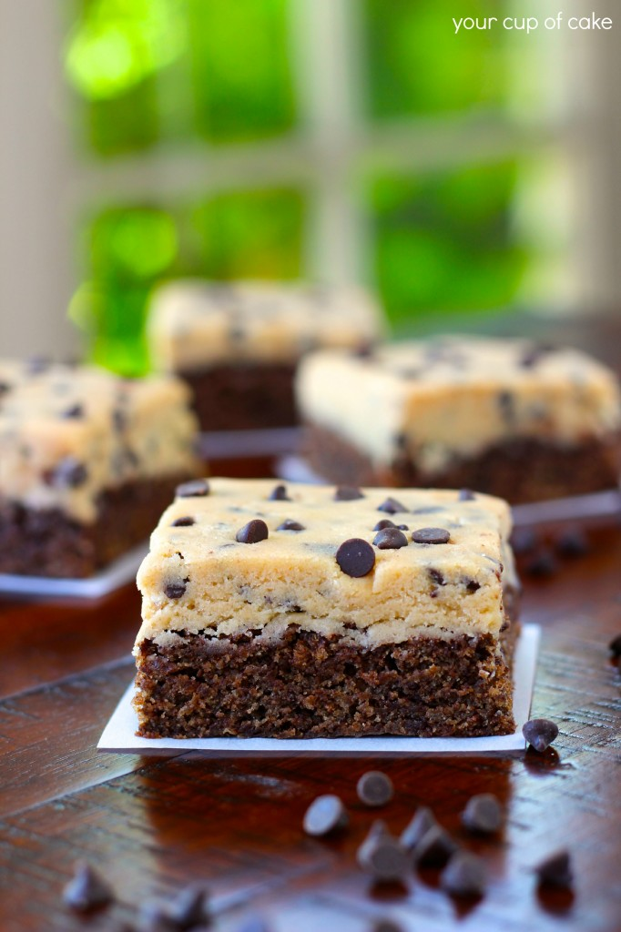 Cookie Dough Brownie Bars Your Cup Of Cake