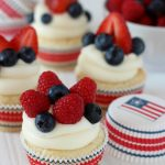 Fruity Fourth Cupcakes