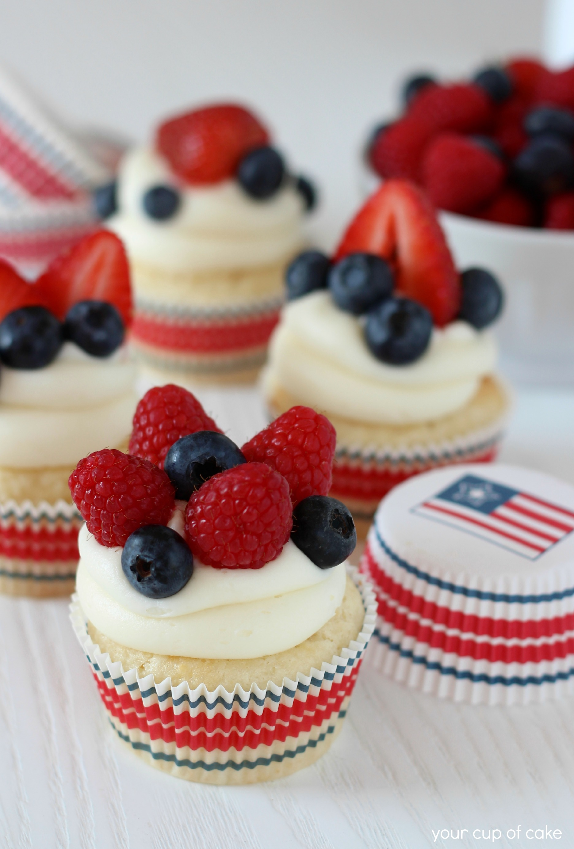Fruity Fourth Cupcakes Your Cup Of Cake