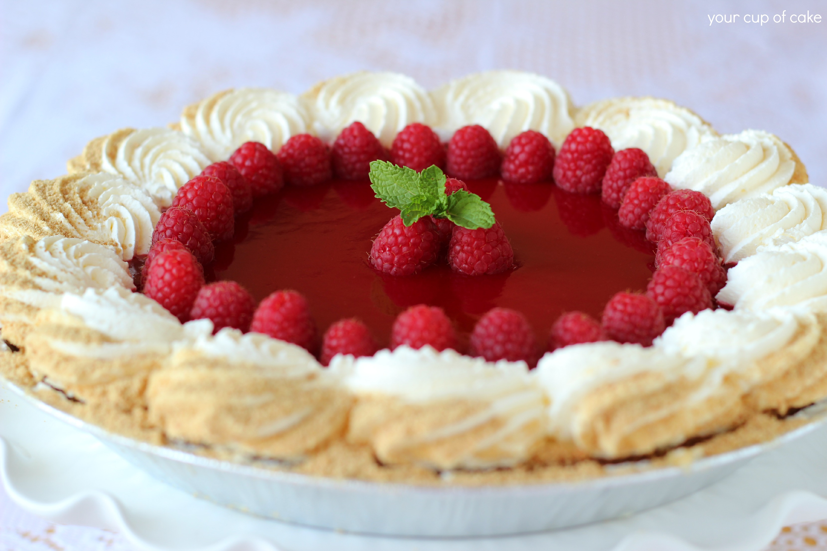 Costco Makeover: Raspberry Key Lime Pie - Your Cup of Cake
