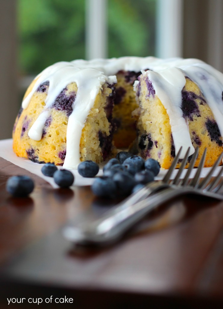 Banana Blueberry Bundt
