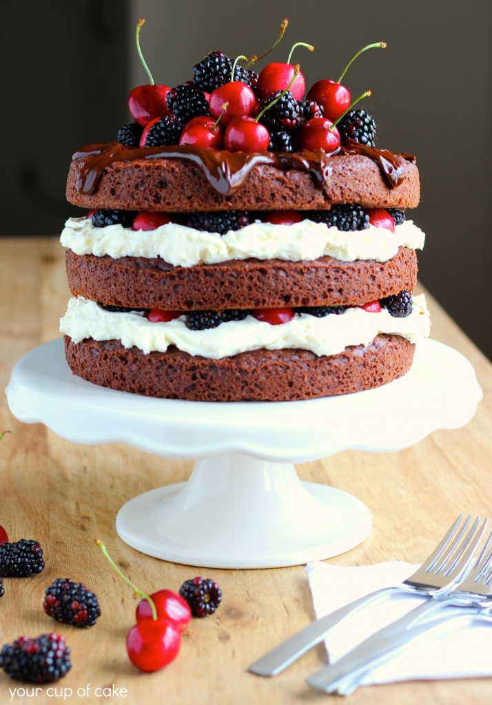 Blackberry Forest Cake - Your Cup of Cake