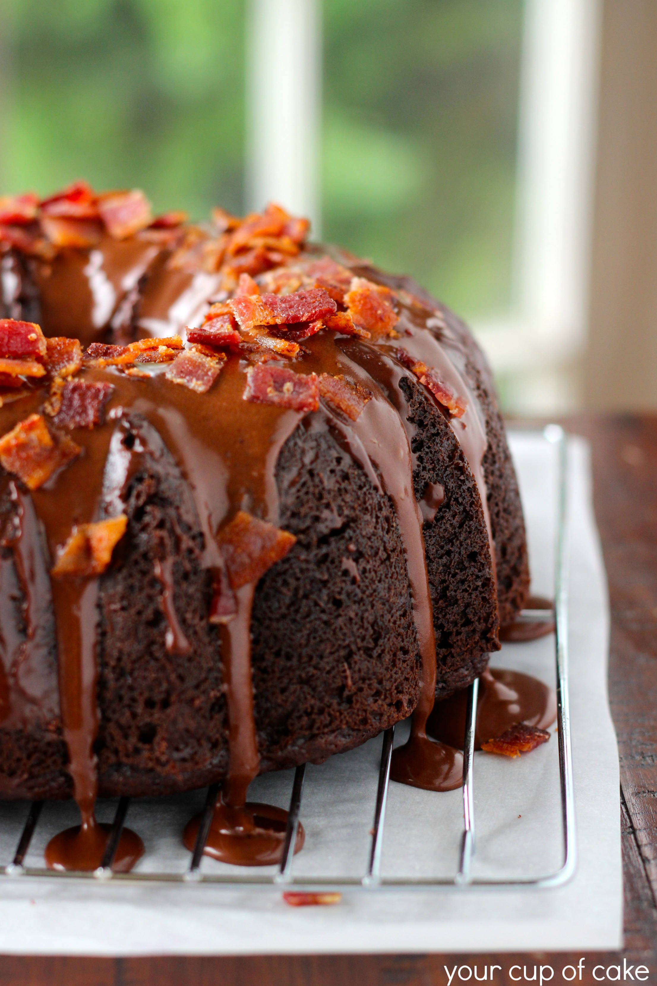 Chocolate Bacon Bundt Cake