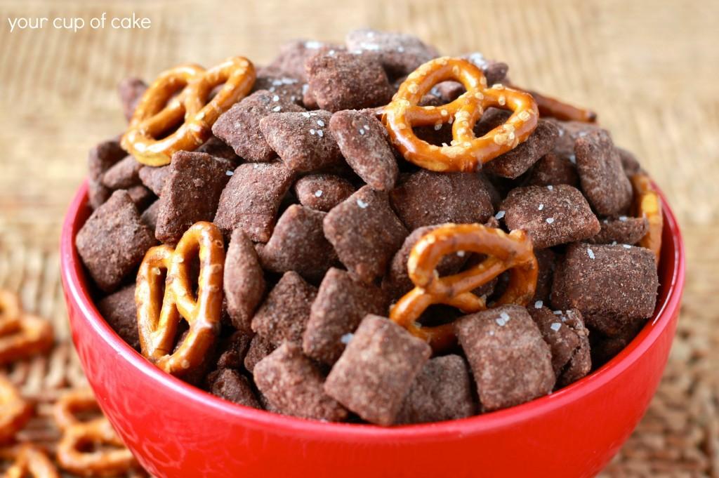 Salted Chocolate Muddy Buddies