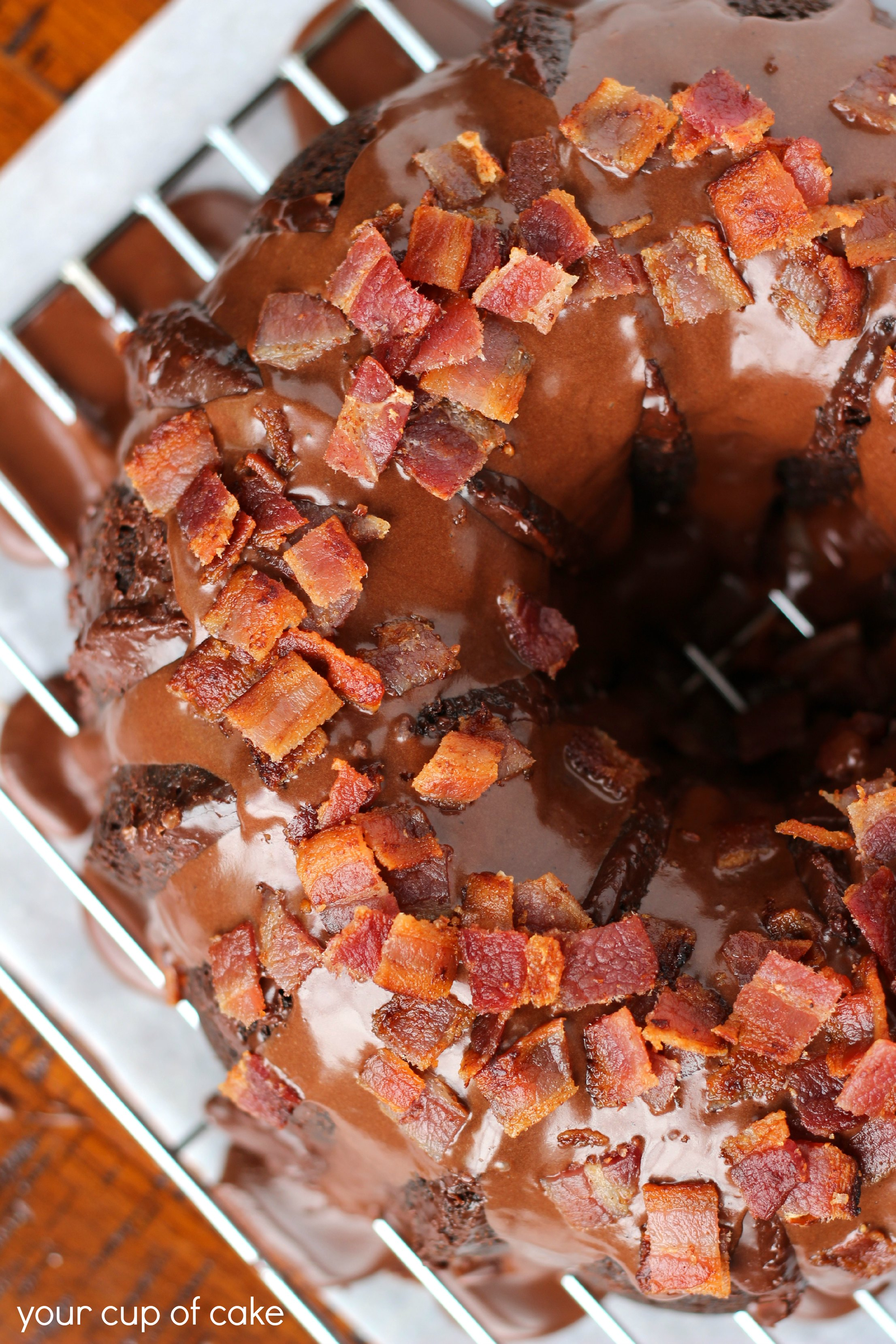 Chocolate Bacon Bundt Cake - Your Cup of Cake