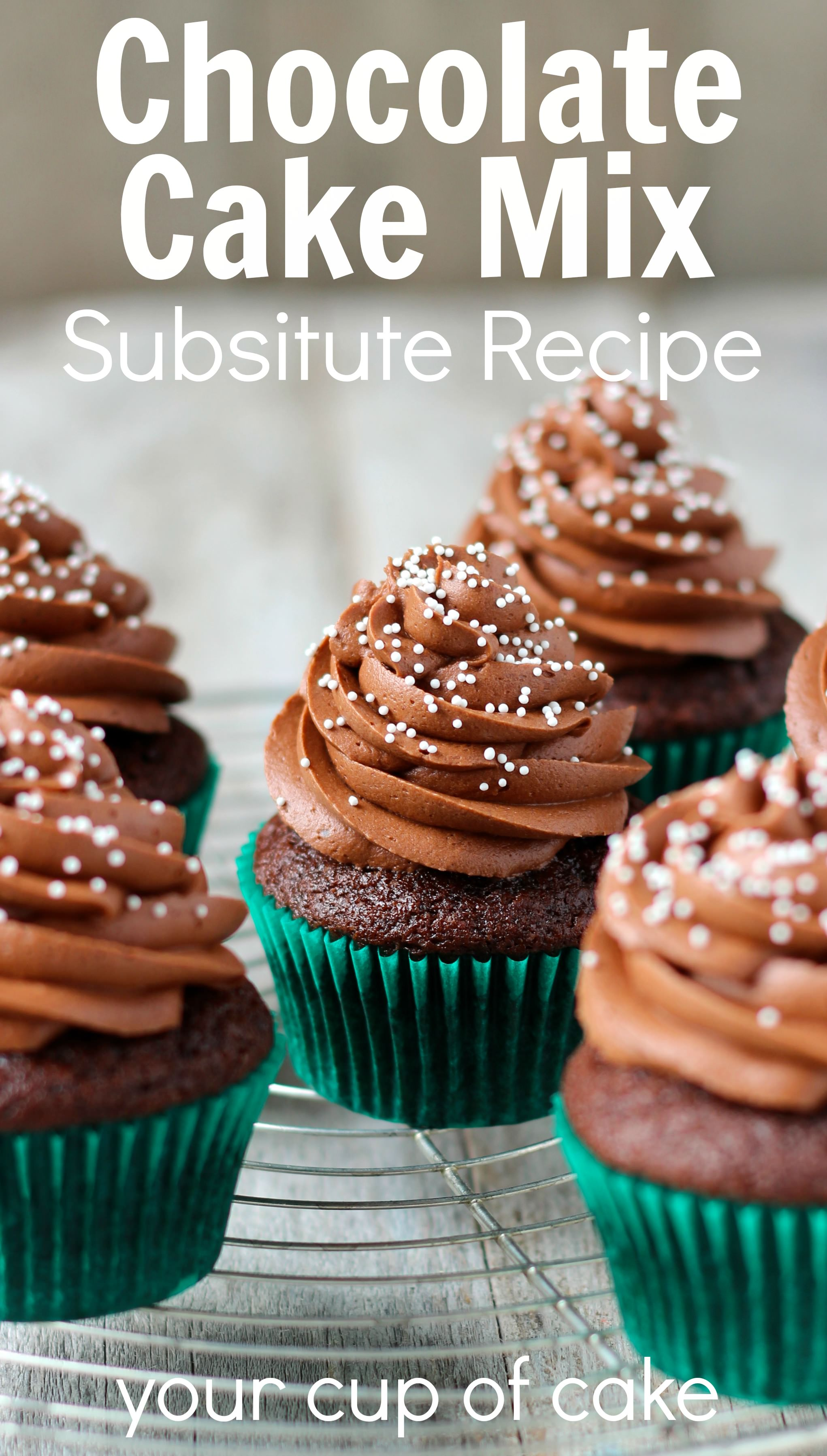 Chocolate Cake Mix Substitute - Your Cup of Cake
