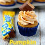 Pumpkin Butterfinger Cupcakes