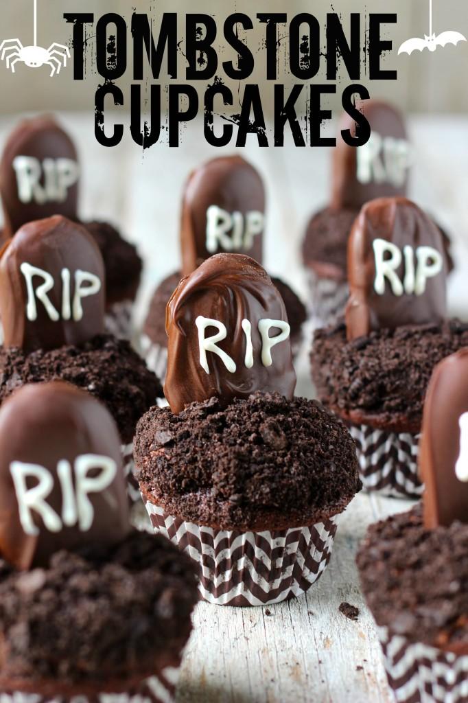 Tombstone Halloween Cupcakes