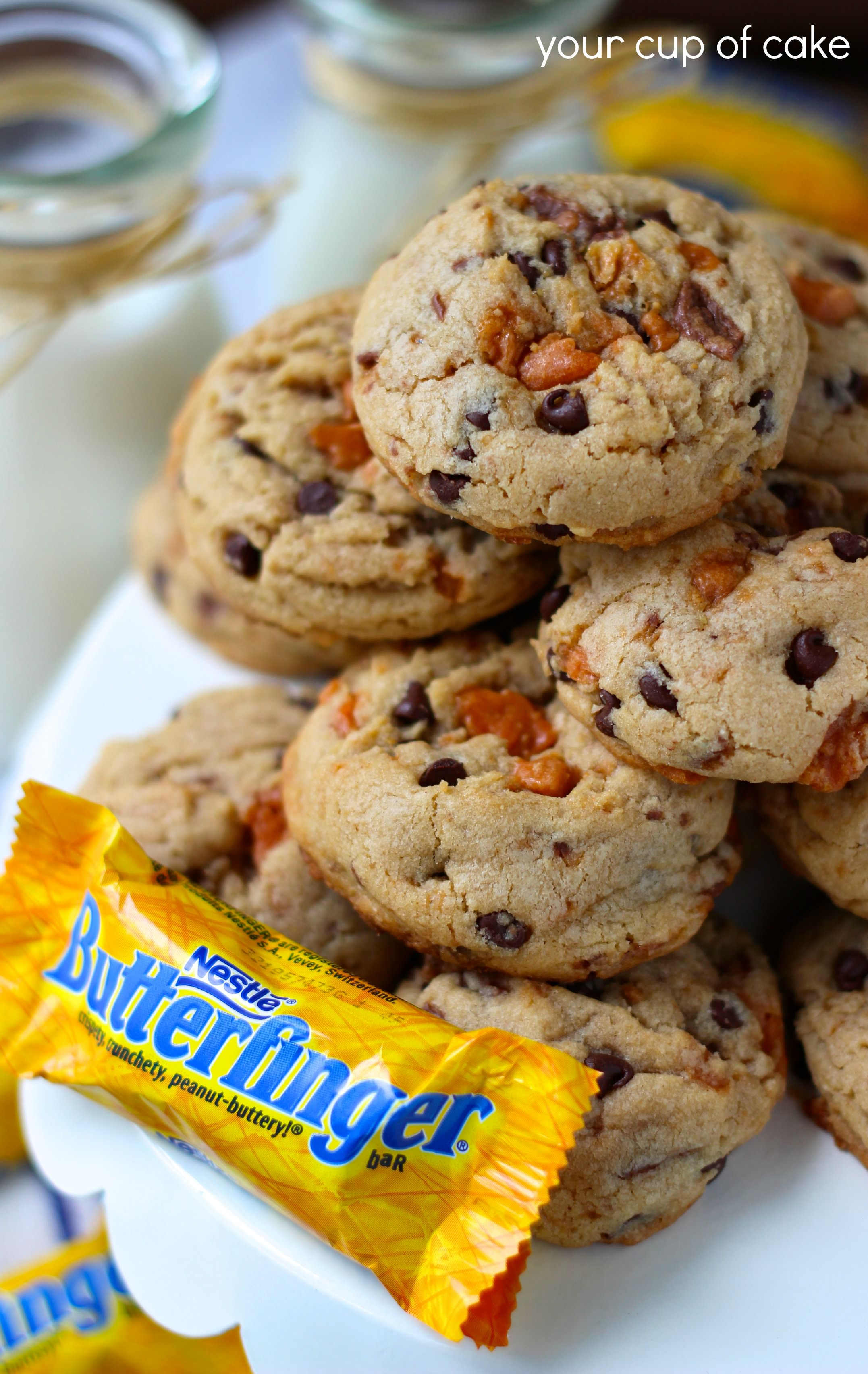 Butterfinger Cookies - Your Cup of Cake