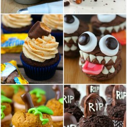 Halloween Round Up & Candy Bar Cupcakes