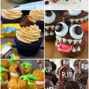 Halloween Round Up & Candy Bar Cupcakes