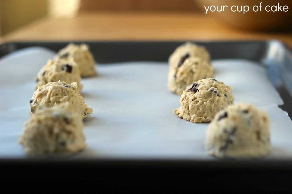 banana chocolate chip cookie dough