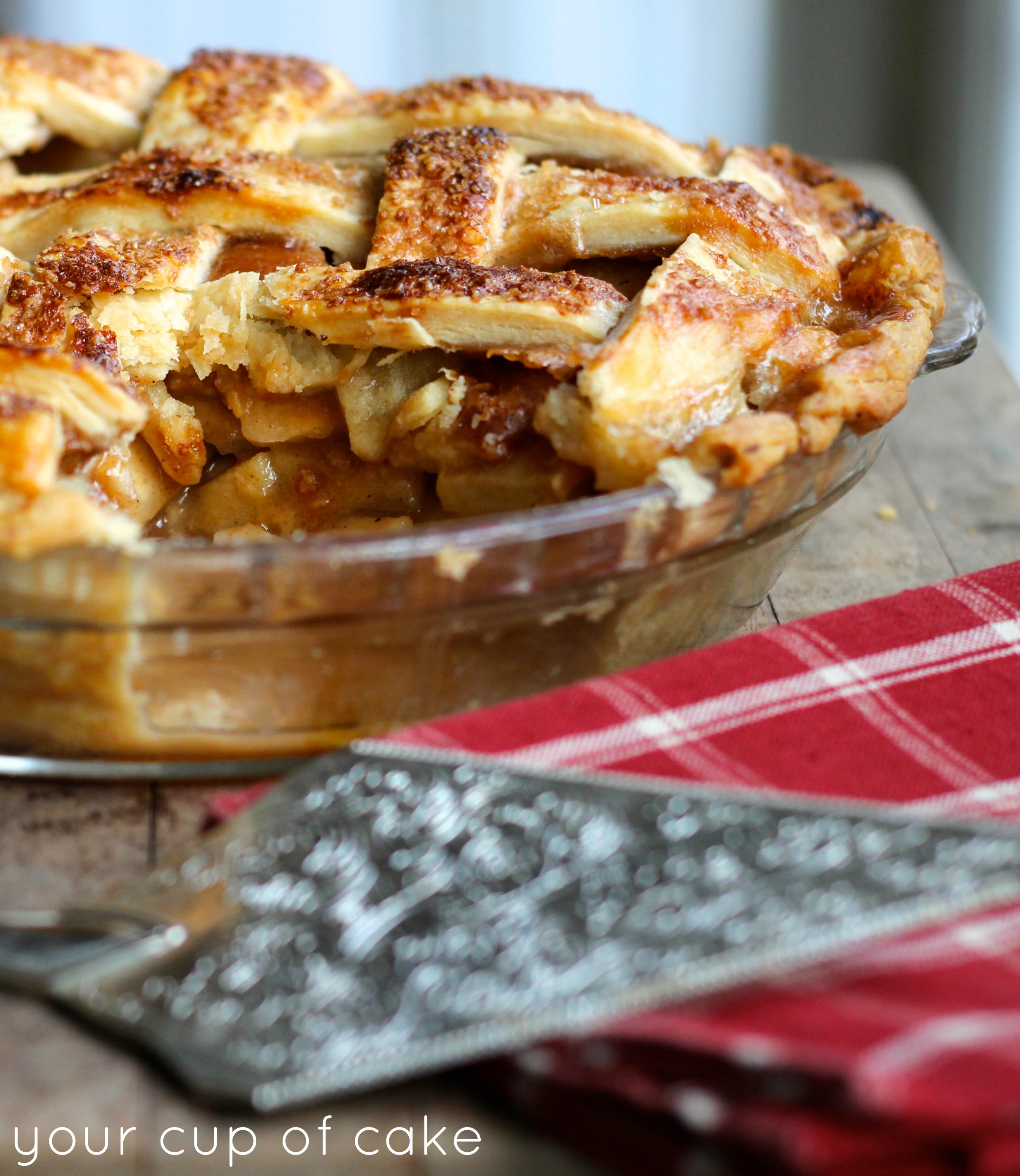 Caramel Apple Pie - Your Cup of Cake