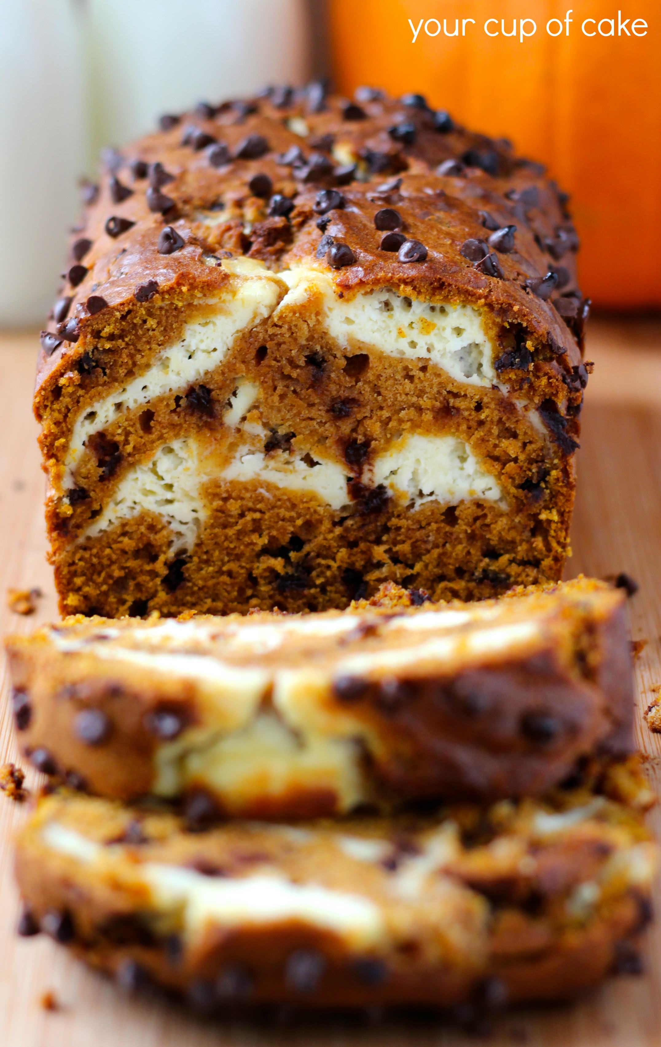 Pumpkin Cream Cheese Bread and Muffins - Your Cup of Cake