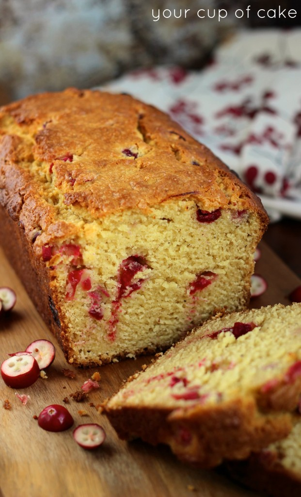eggnog bread with cranberries