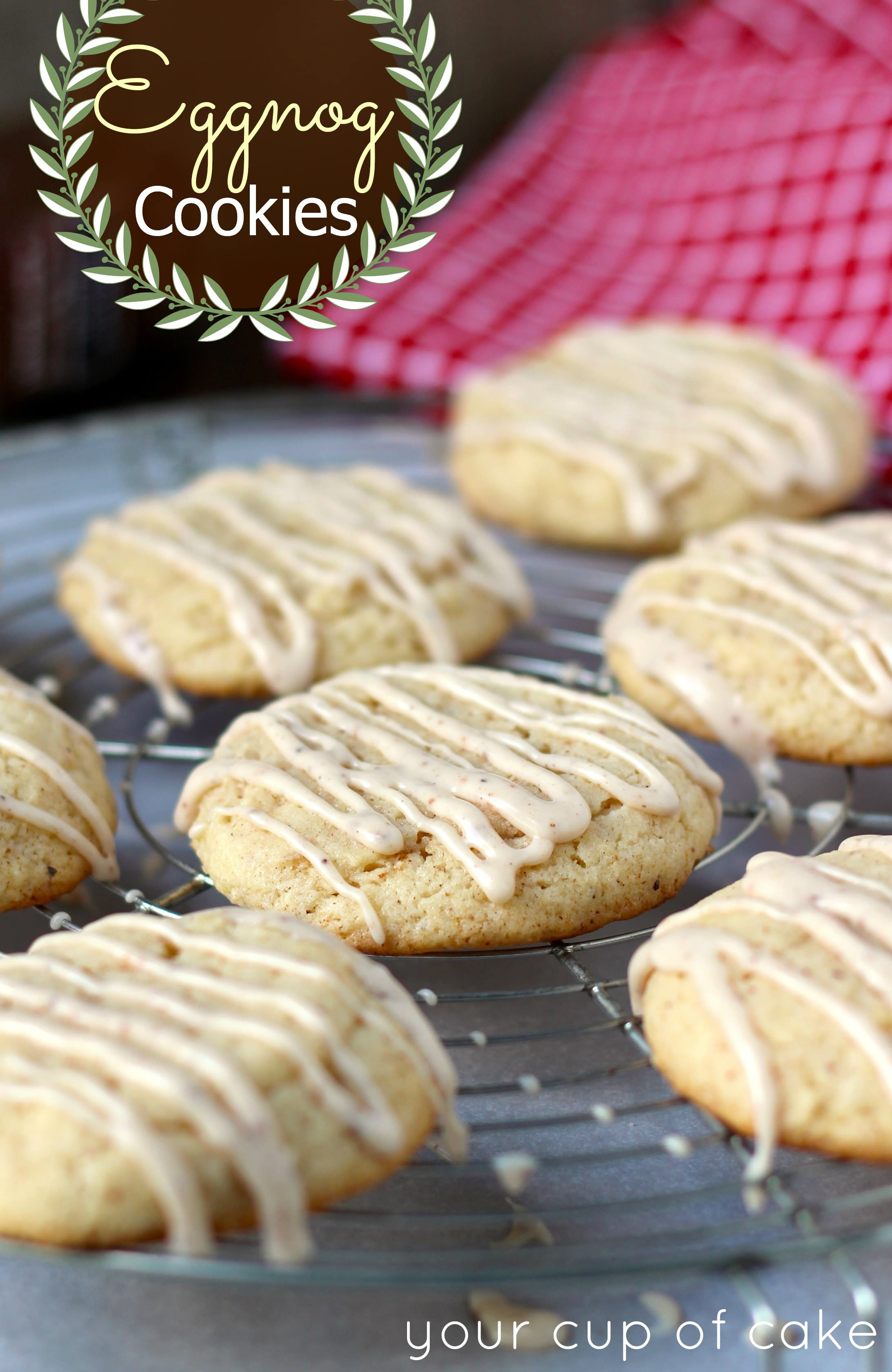 Eggnog Cookies (Scratch and Cake Mix recipes)