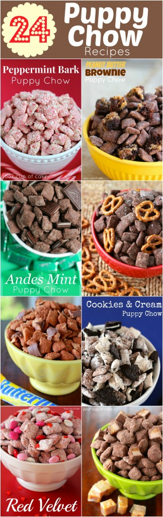 Puppy Chow (Muddy Buddy) Recipes, so many awesome kinds I HAVE to try!