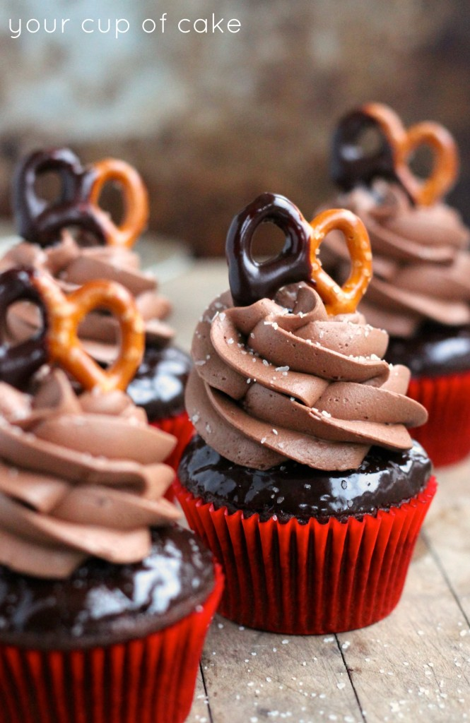 Chocolate Salted Cupcakes