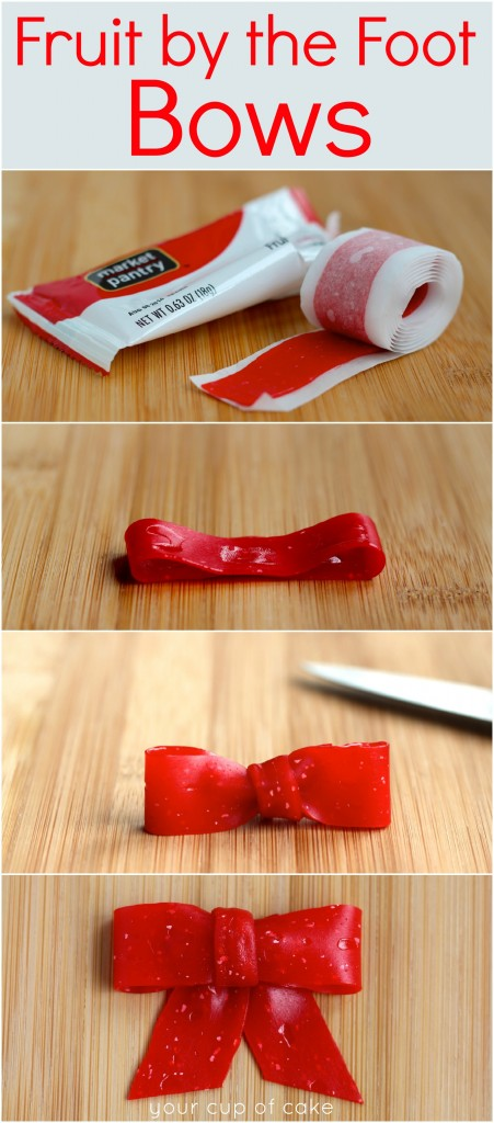How to make bows using Fruit by the Foot!