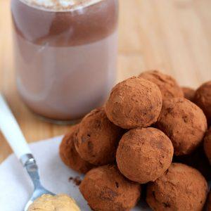 Peanut Butter Hot Chocolate Truffles