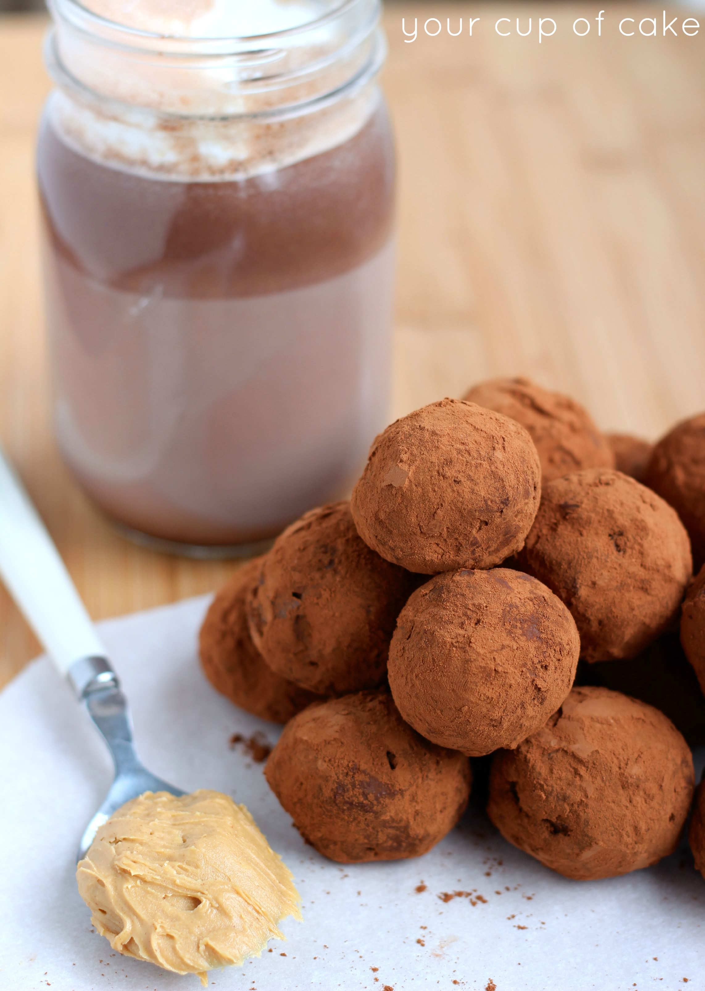 Peanut Butter Hot Chocolate Truffles - Your Cup of Cake