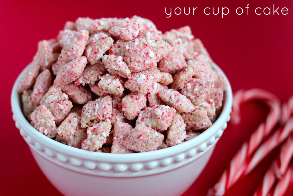 Christmas Puppy Chow.Peppermint Bark Puppy Chow