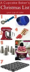 The Cupcake Bakers Christmas List