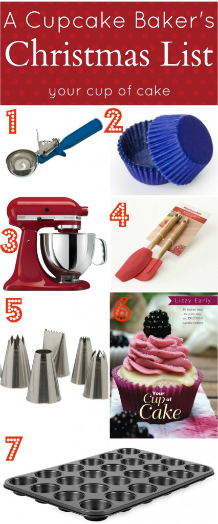 The Cupcake Bakers Christmas List