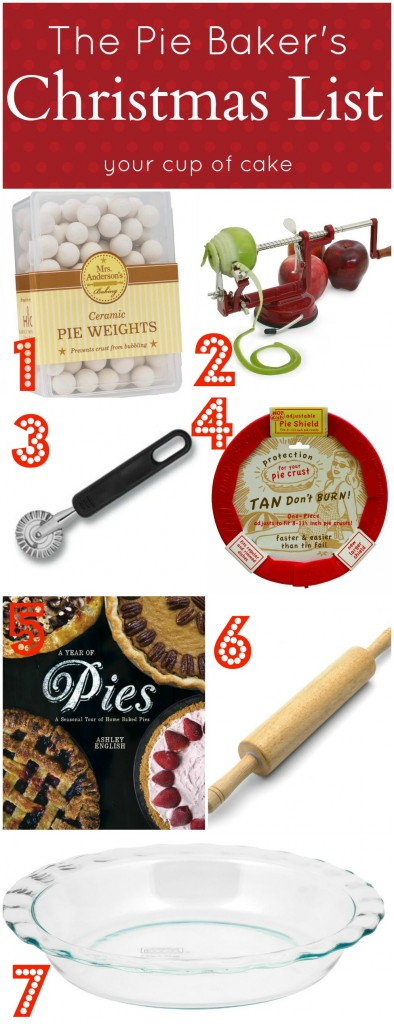 The Pie Bakers Christmas List