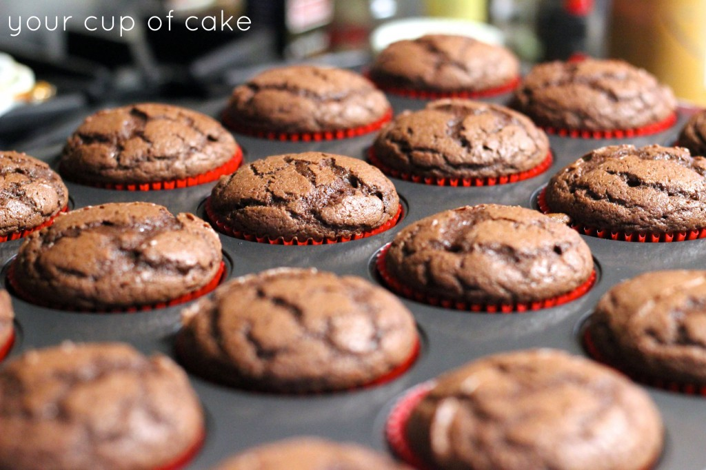 baking chocolate cupcakes