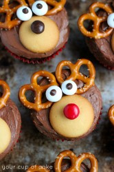 how to make reindeer cupcake