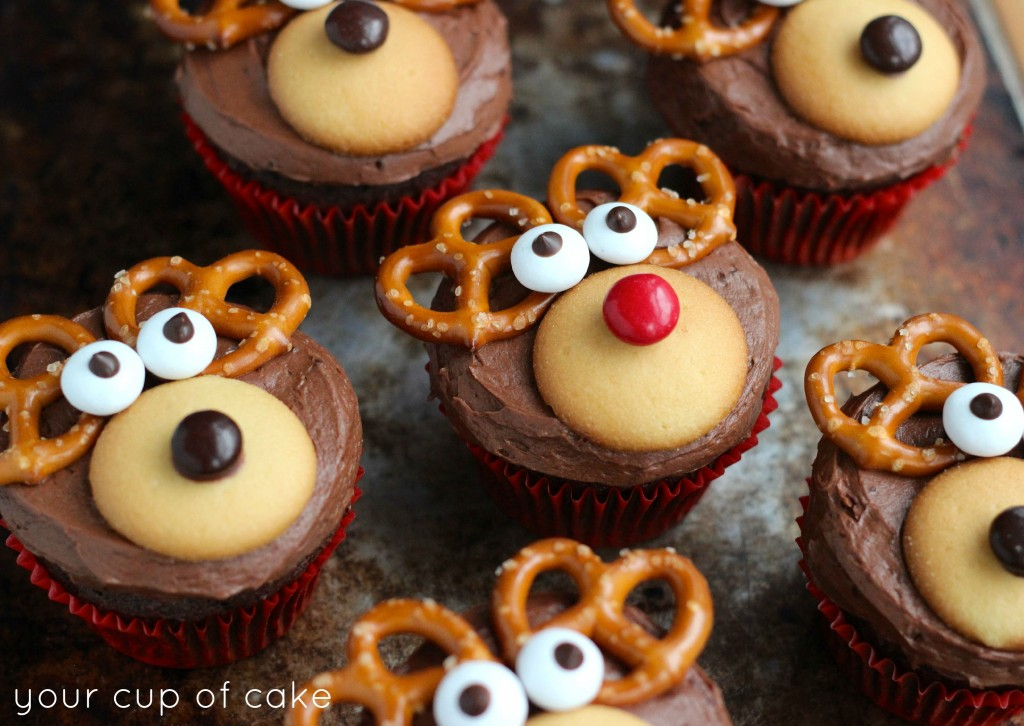 reindeer cupcakes merry christmas - Christmas Cupcake Decorations