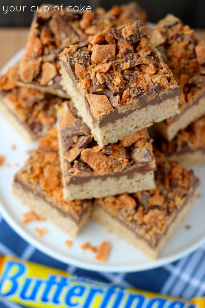 Butterfinger Rice Crispy Treats