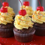 Chocolate Cake Batter Cupcakes