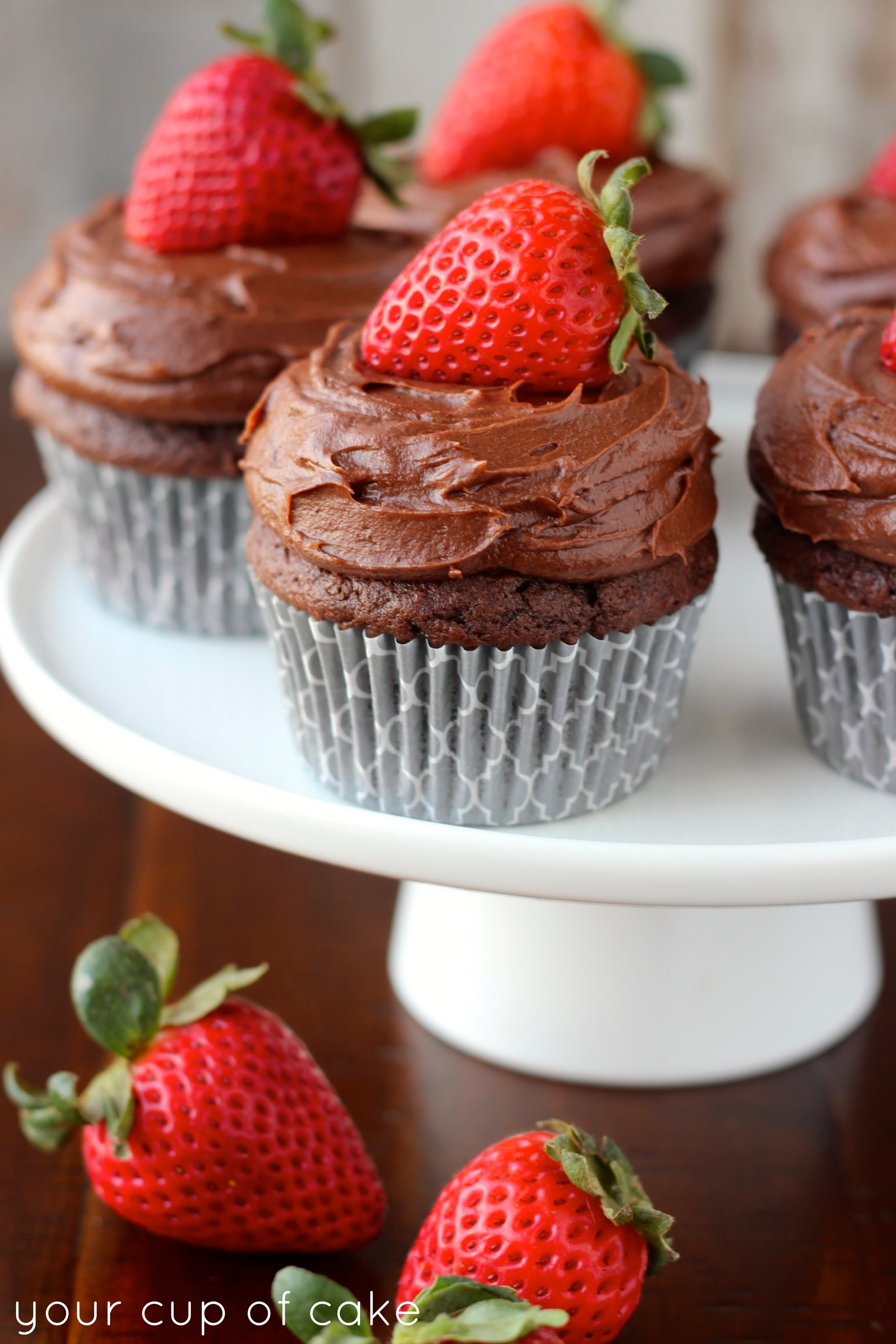 Chocolate Strawberry Cupcakes Your Cup Of Cake