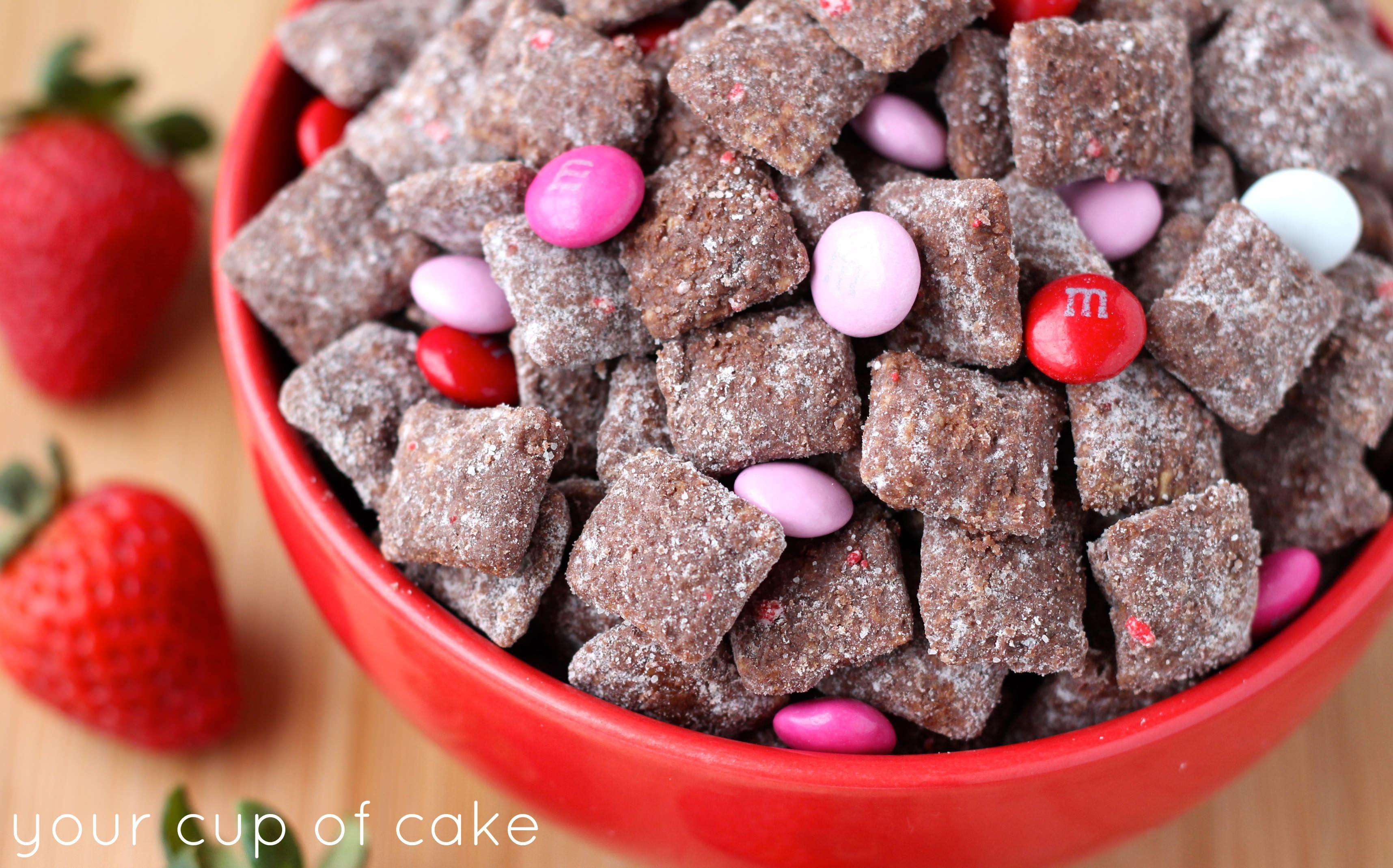 Elegant Chocolate Strawberry Puppy Chow