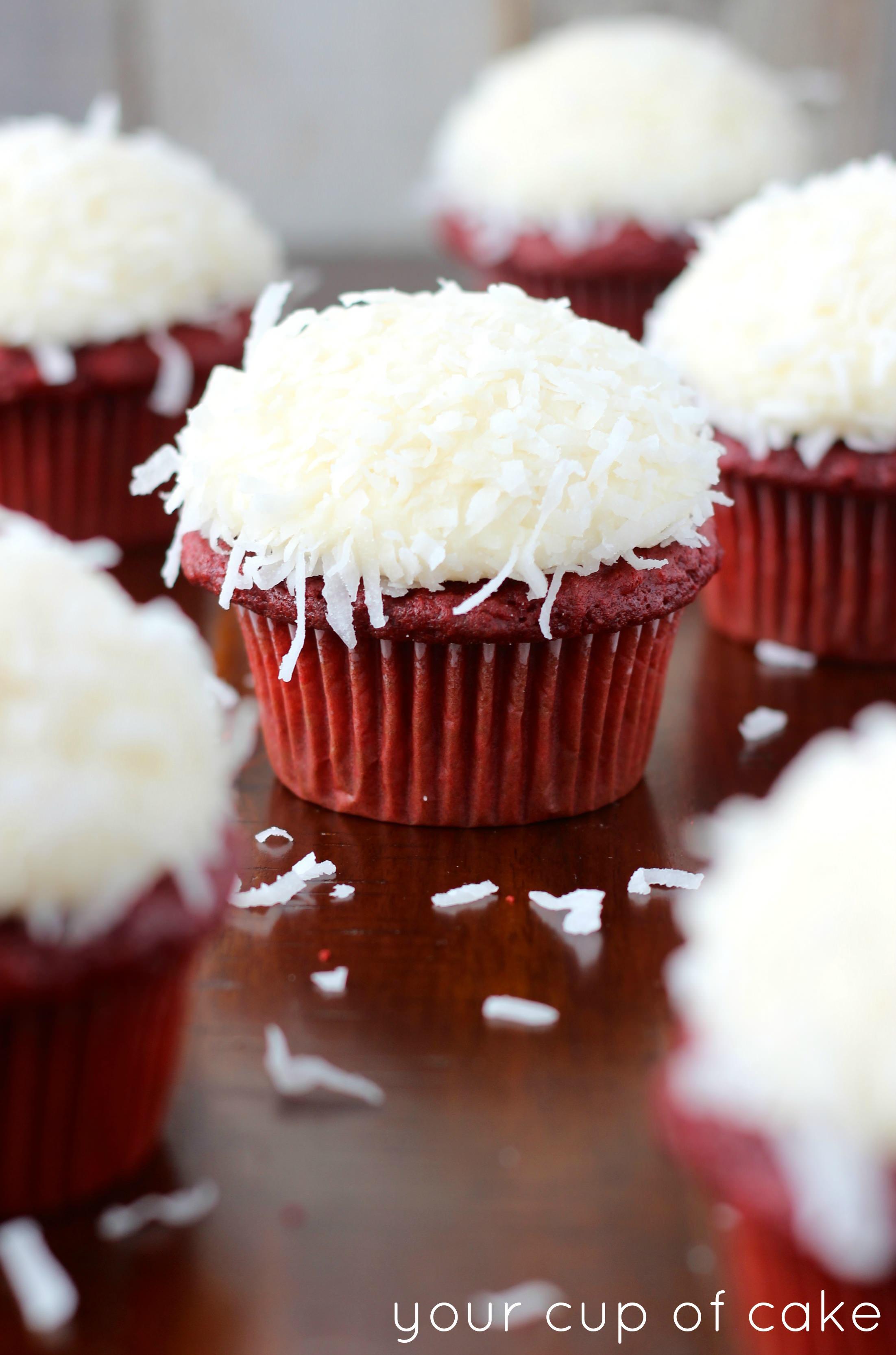 Coconut Red Velvet Cupcakes