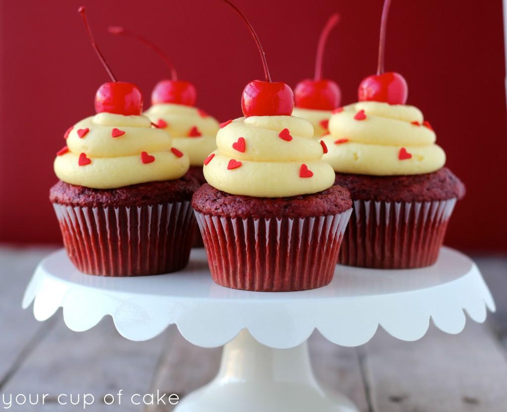 Red Velvet Cake Batter Cupcake
