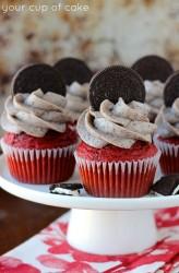 Red Velvet Oreo Cupcake Recipe