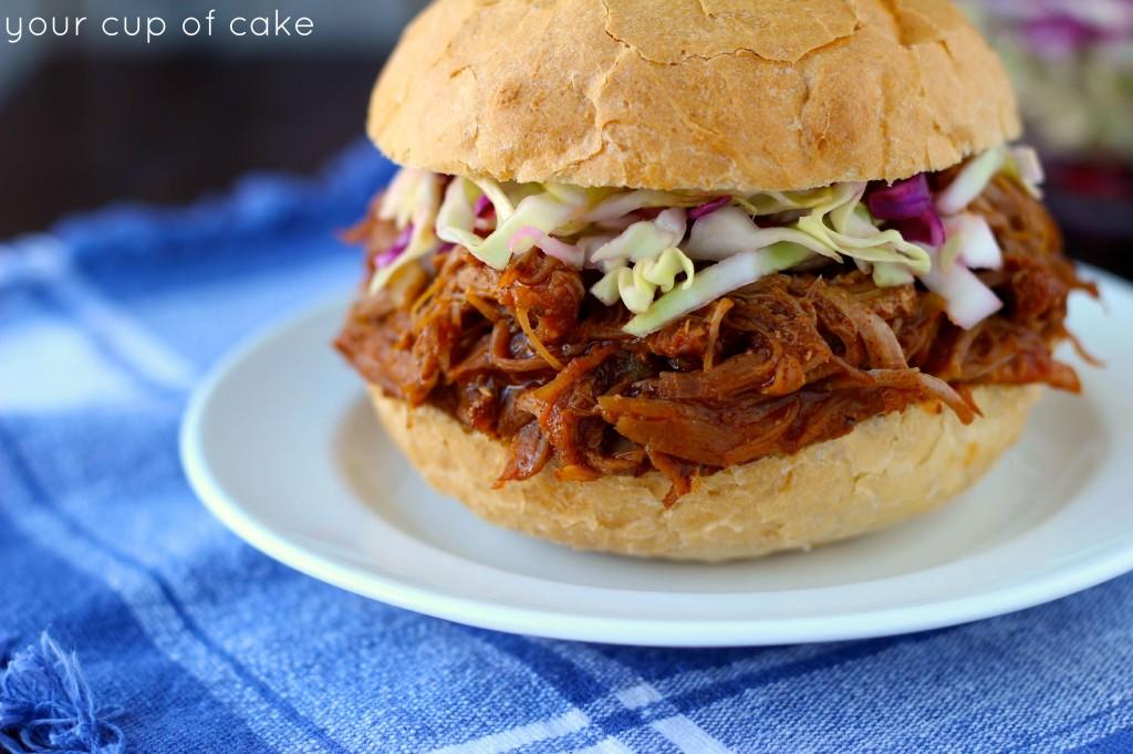 Sweet Pulled Pork Sandwich