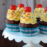 Chocolate Banana Cake Batter Cupcakes