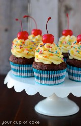 Chocolate Banana Cake Batter Cupcake Recipe