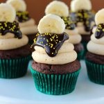 Chocolate Banana Peanut Butter Cupcakes