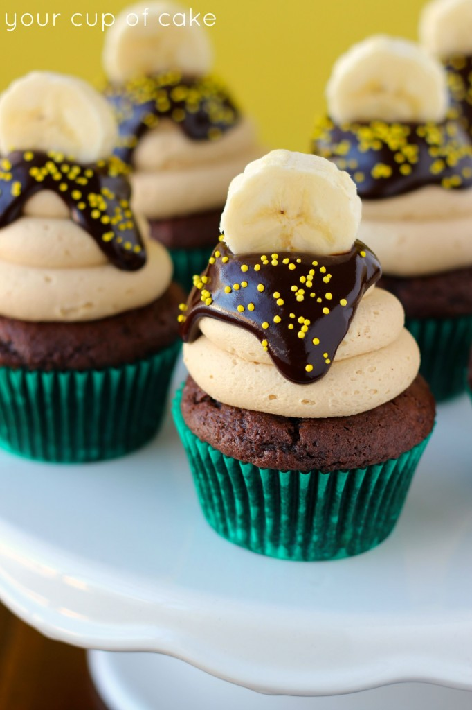 Chocolate Banana Peanut Butter Cupcake Recipe
