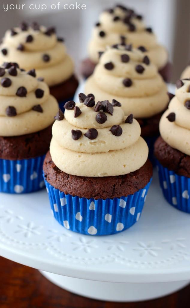 Chocolate Cookie Dough Cupcake