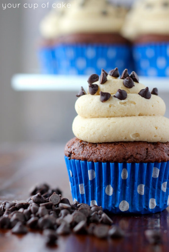 Chocolate Cookie Dough Cupcake Recipe