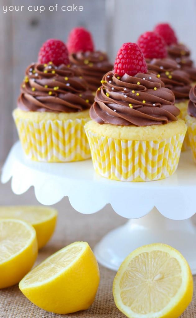 Lemon Chocolate Cupcakes