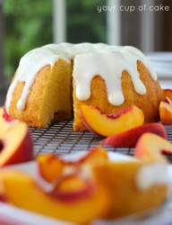Peaches and Cream Bundt Cake recipe