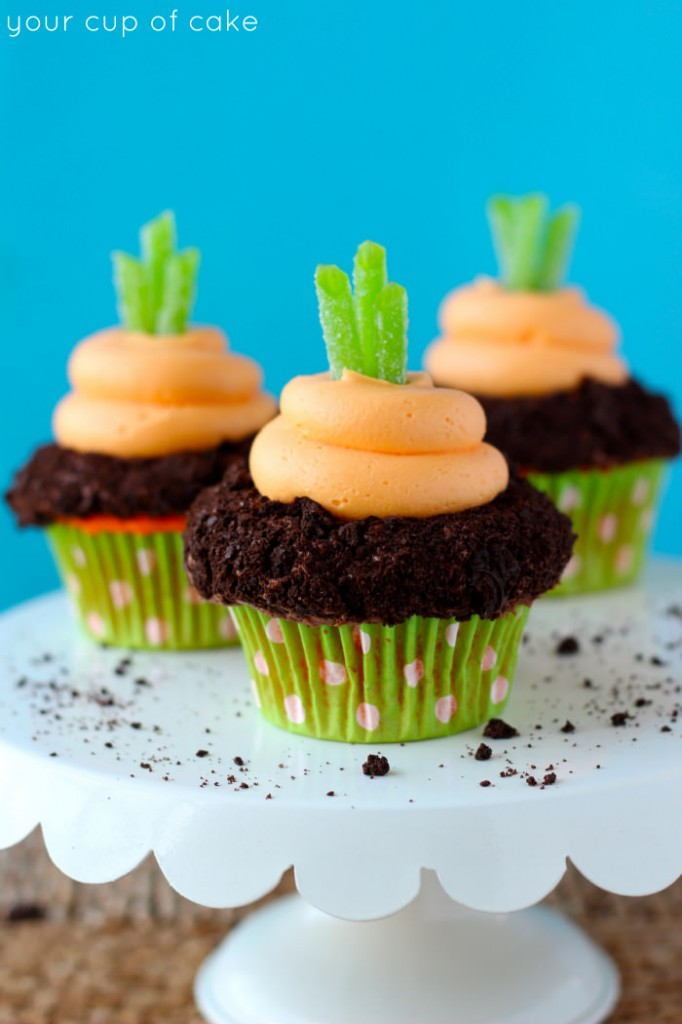 Garden Carrot Cupcakes - Your Cup of Cake