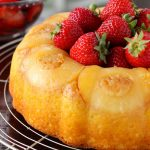 Pineapple Bundt Cake with Sweet Strawberries